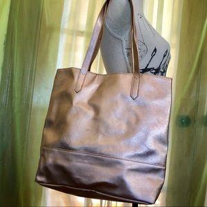 Pink Metallic Bloomingdales Shopper Shopping Tote
